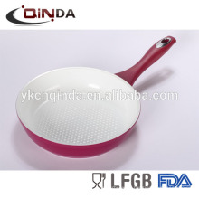 Silk print ceramic forged aluminum fry pan