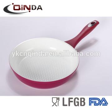 Silk print ceramic forged aluminum fry pan