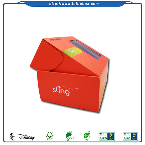 Corrugated custom electronics packing box