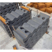 Chinese Foundry Jaw Plate Cheek Plate Side Plate Toggle Plate for Jaw Crusher