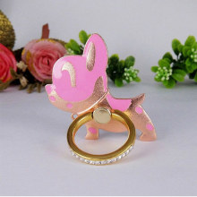 Cute creative lazy aluminum puppy finger ring gift