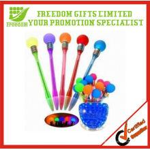 Le logo adapté aux besoins du client promotionnel clignotant de stylo d'ampoule allument le stylo