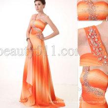 Astergarden новый дизайн одно плечо печать ткань вечернее платье AS067