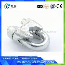Clip de cable de alambre de acero al carbono de fundición Din741
