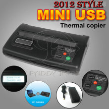 LCD Mini USB Black Thermal Copier Tattoo Machine