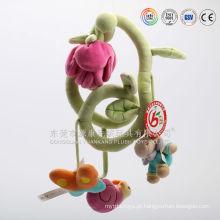 Chocalho macio do bebê da fábrica dos brinquedos de pelúcia de ICTI