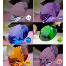 Pisapapeles de diamante de cristal púrpura de la decoración de 40m m