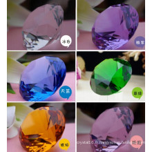 40mm pourpre décoration cristal diamant presse-papiers