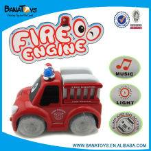 Cartoon electric fire truck with light and music