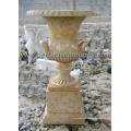 Maceta de mármol de piedra para la decoración del jardín (QFP277)