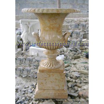 Pot de marbre en marbre pour décoration de jardin (QFP277)