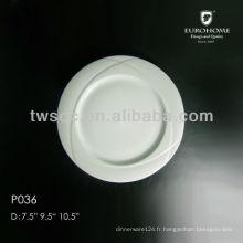 assiettes plates & assiettes à soupe, plat de 7,5 pouces