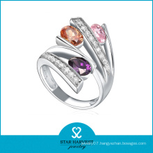 Colorful Crystal Sterling Silver Index Finger Rings
