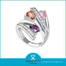 Цветные кольца из перламутрового серебра