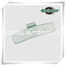 Acier / Fe Clip sur roue Poids d'équilibrage pour roue en acier (camion), Revêtement polyester époxy, Espace entre les clips 5,5 mm / 5,7 mm, Super Qualité