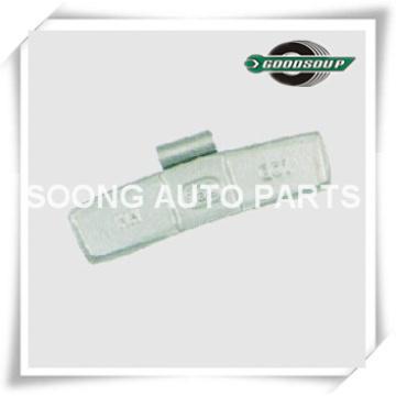 Steel / Fe Clipe em Pesos de Equilíbrio de Rodas para a roda de aço (caminhão), revestimento de Poliéster Epóxi, Clipe gap 5.5mm / 5.7mm, Super Qualidade