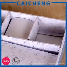Caja de empaquetado impresa logotipo personalizado de la ropa de la cartulina
