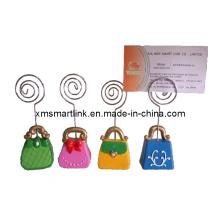 Dame Handtaschenform Namenskartenhalter, Visitenkarte Clip
