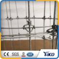 Eingehängter und örtlich festgelegte Knotenschafe springender Zaun / Schaffiletarbeit / Schaffiletzaun