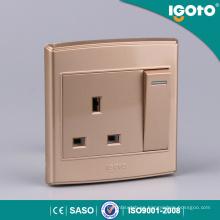 1gang 13A interruptor y zócalo eléctricos cambiados del zócalo