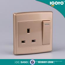 1gang 13A Comutado Soquete Interruptor Elétrico e Soquete