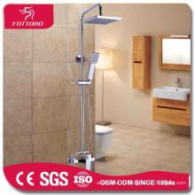 2015 уникальный дизайн круглый трубка хромированная Латунь Ванная комната душ набор