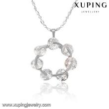 32763-xuping fashion silver color jewelry white gold plated semi precious stone pendant