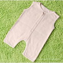 Einfache Bio-Baumwolle Baby Sleeveless Strampler