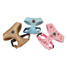 Gilet de harnais pour chien avec harnais pour animaux de compagnie à motif personnalisé