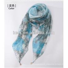 2014 Großhandelsart und weise preiswerte weibliche gestrickte 100% Polyester Schals, W3017