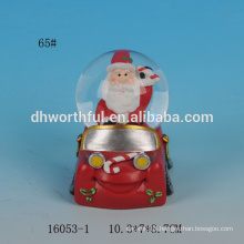 55mm Christmas santa claus resin custom snow globe