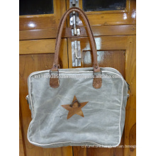 Star Embeded Canvas Bag