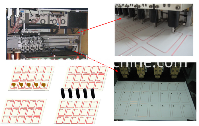 Smart Card Antenna Embedding and Bonding Machine