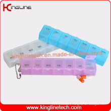 Latest Design Plastic 7-Cases Pill Box (KL-9078)