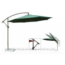 Guarda-chuva reto ajustável para jardim ao ar livre com tecido à prova de água de poliéster UV