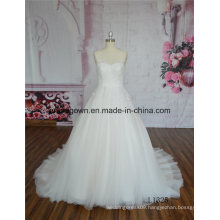 Ivory Puff Ball Gown Wedding Dress for Fat Woman