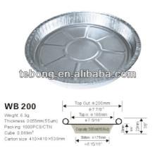 Bandejas para pastel de aluminio desechables