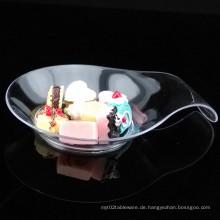 Tafelgeschirr Plastikscheiben Einweg-Untertasse Komma Shaped Dish