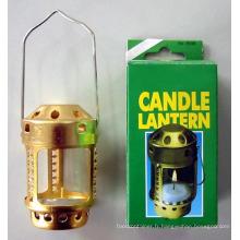 Lanterne de bougie de fins de camping en plein air