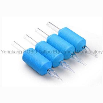 Puños desechables de silicona suave de alta calidad de 25 mm con puntas claras