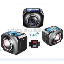 12MP / 360VR Wasserdichte Sport DV 1440p / 30fpsAction Kamera mit WiFi Watech Fernbedienung 220 Grad Draht Videokamera