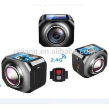 12MP / 360VR Esporte À Prova D 'Água DV 1440 p / 30fps câmera de Ação com Wi-fi Watech Controle Remoto de 220 Graus Wireles câmera de vídeo
