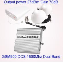 Dual-Band GSM 900 1800 Repetidor Amplificador de señal móvil Cell Phone Service Booster