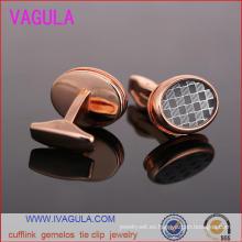 VAGULA lujo latón botón diseñador puños Gemelos gemelos (L51921)