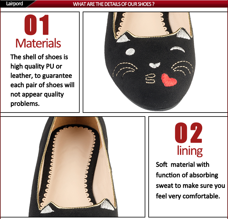 cute cat flat shoes
