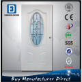 Fangda Steel Glass Door in Primed White, Decorated with Toughened Glass, Better Than Carved Solid Wood Door