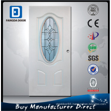 Exterior Steel Glass Ornament Iron Door