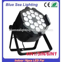 Cor cheia par rgbw 18pcs 12w 4in1 LED luz interior DMX512