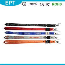 Polyester Cheap Custom Printing Lanyard Neck Strap USB Flash Drive