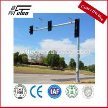 Nuevo, estilo, tráfico, luz, poste, acero, señal ...